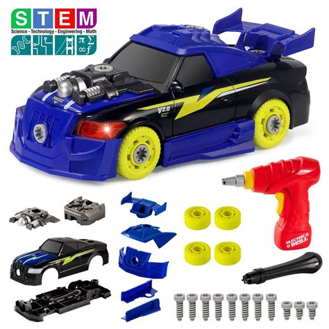 Take Apart Racing Car Toys With Drill Tools Stem 26