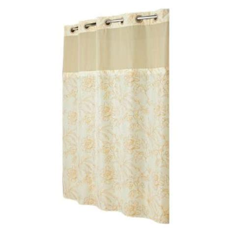 hookless shower curtain mystery with peva liner in yellow