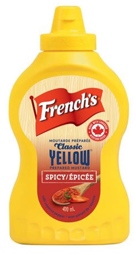prepared mustard french s classic yellow mustard prepared mustard spicy with cayenne piment walmart ca