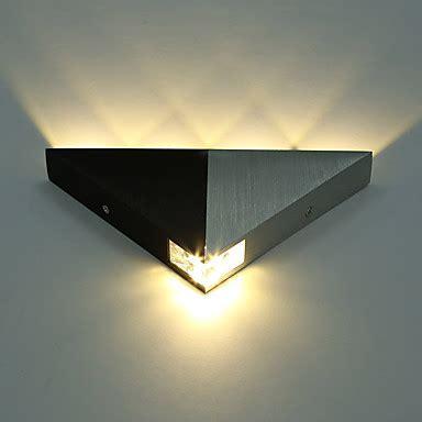 aluminum modern triangle 5w led wall sconce light fixture