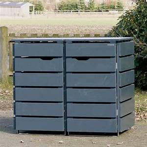 Mülltonnenbox Holz Anthrazit : 2er m lltonnenbox holz anthrazit grau m lltonnen pinterest recyle ~ Whattoseeinmadrid.com Haus und Dekorationen
