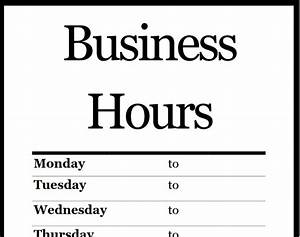 business hours template business letter template With hours of operation template microsoft word