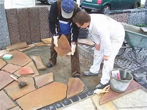 Polygonalplatten Auf Beton Verlegen : bauzentrum beckmann natursteinplatten verlegen ~ Lizthompson.info Haus und Dekorationen
