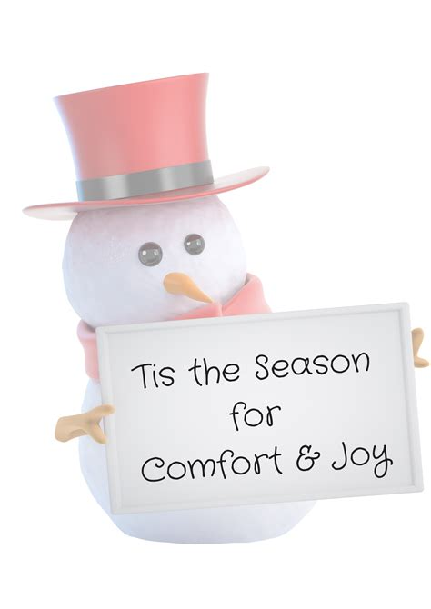 Creating Comfort And Joy Your Writing Mentor