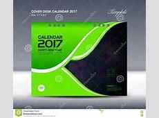 Desk Calendar For 2017 Year, Cover Desk Calendar Template