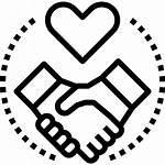 Icon Relationship Customer Heart Handshake Deal Icons