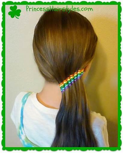 Ribbon Hairstyles Ponytail Hair Rainbow Clipart Waterfall
