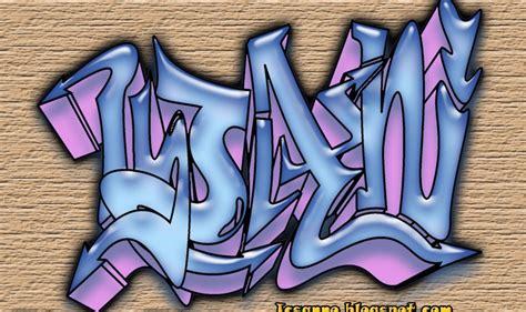 Grafiti Nama Aisyah :  Belajar Bikin Grafity Pake Komputer