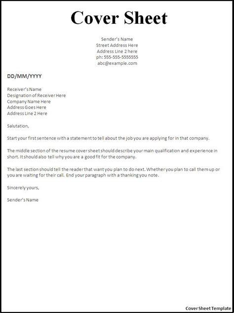 resume cover sheet exles endspiel us