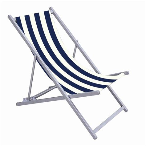 Blue & White Striped Deck Chair  Buy Online At Qd Stores