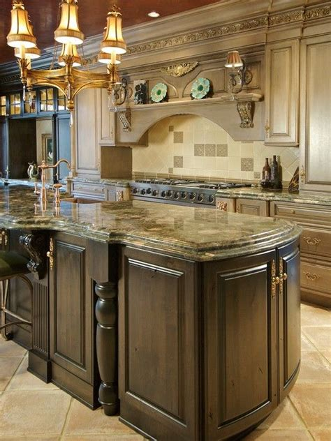 brown kitchen island kitchen countertops of possibly mombasa granite 1833