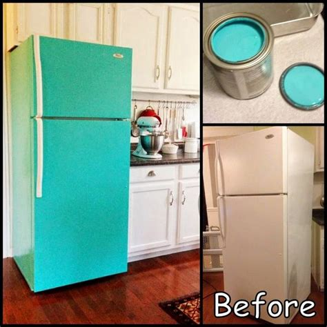 refrigerator fridge painted painting diy paint dollar makeover raasch amy appliances