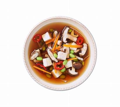 Soup Miso Tofu Shiitake Recipes Leek Lotus