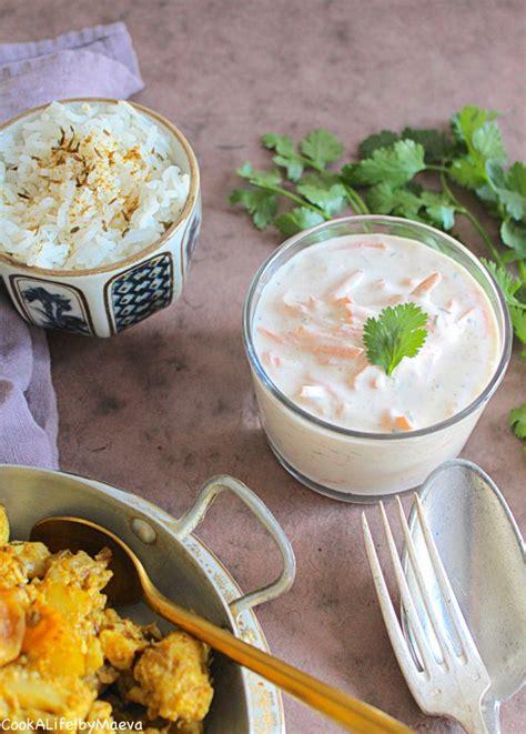 plat cuisiné pas cher recette raita de carottes spécialité indienne