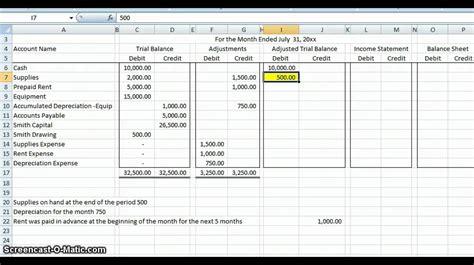 accounting worksheet excelxocom