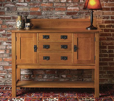 arts  crafts sideboard finewoodworking