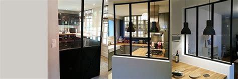salle de bain ouverte dans chambre verrière cuisine verrière intérieure verrière d