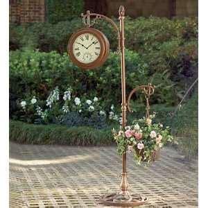 standing iron floor clock dual antique style on