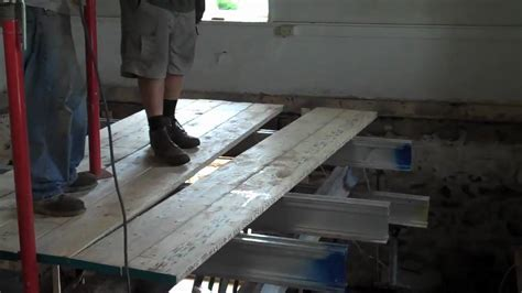 New Steel Beam & Removing Old Beams   YouTube