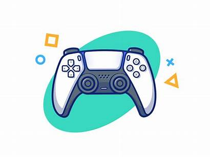Ps5 Icon Console Dribbble Gaming Gamer Controller