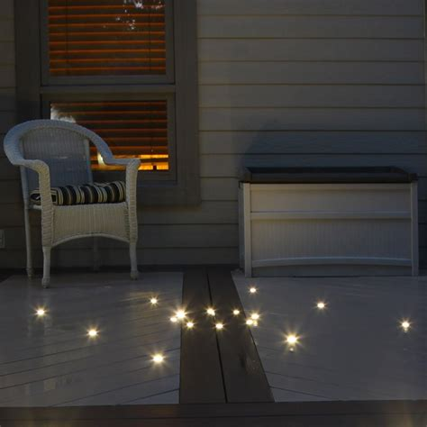 led decking lights outdoor recessed deck dot led light kit dekor 174 lighting