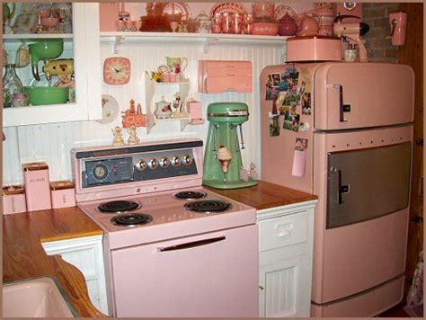 retro kitchen   fashioned pink style faxo