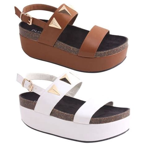 Gosh Flat With High Wedges new s strappy flat high wedge platform sandal large
