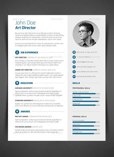 piece resume cv cover letter  bullero graphicriver