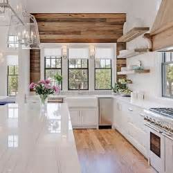 accent wall ideas for kitchen farmhouse kitchens with fixer style
