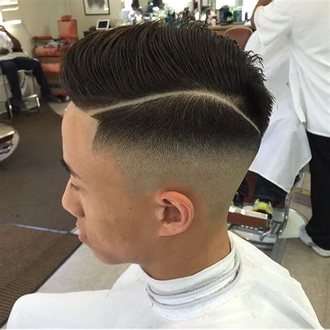 modern twist  classic haircuts  hard part hairstyle  point
