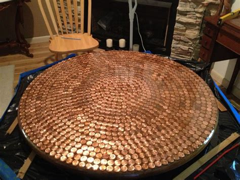 penny table  resin   great crafts