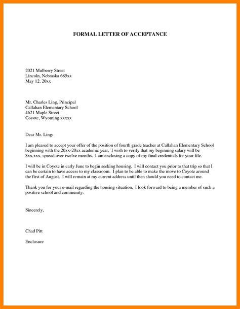 format  formal letter  principal letters