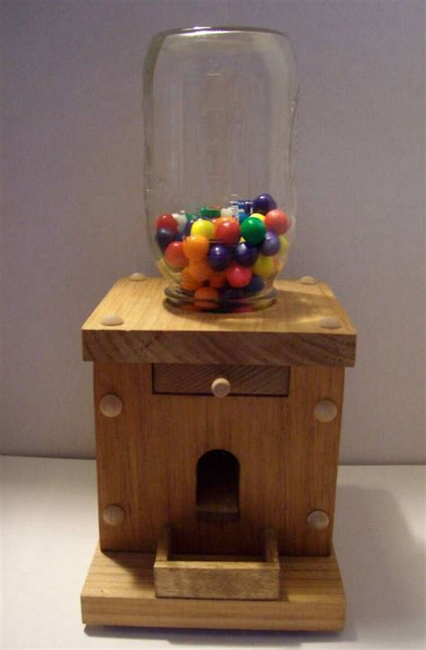 wooden candy dispenser plans google search candy
