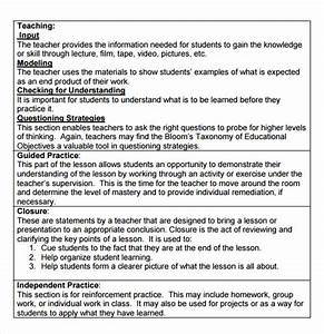 Sample Madeline Hunter Lesson Plan Template 9 Free