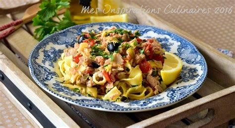 recette pate malsouka tunisienne pates au thon tomates et olives le cuisine de samar