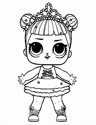Lol Coloring Dolls Pages Colouring Doll Glitter