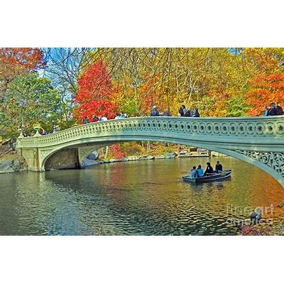 Bow Bridge In Central Park Photograph by Allan Einhorn