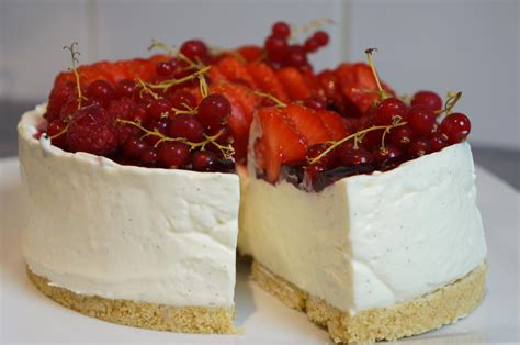 hervé cuisine cheesecake cheesecake sans cuisson vanille fruits rouges