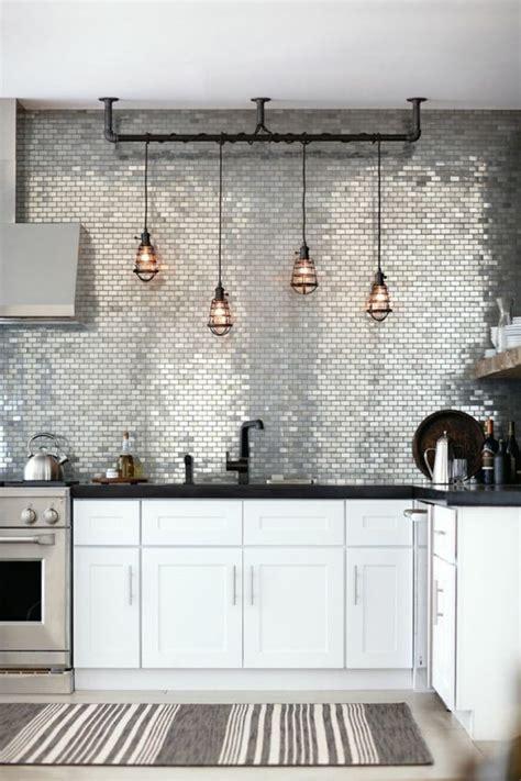 modele carrelage cuisine mural crédence inox verre béton ciré 20 idées de crédence