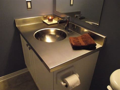 bathroom vanity countertop materials stainless steel vanity countertop by ridalco