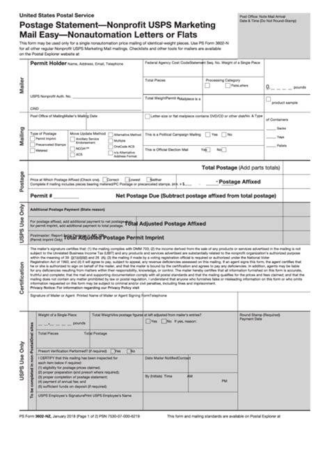 top usps form  nz templates      format