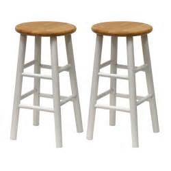 Wooden Bar Stools by Winsome Wood Beveled Bar Stool Set Of 2 Lowe S Canada