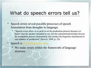 Production Of Speech