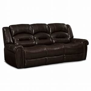 galveston leather dual reclining sofa value city furniture With dual reclining sofa