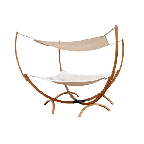 Wooden Hammock With Canopy by Leisure Season 6 5 Ft Wooden Square Hammock Stand With
