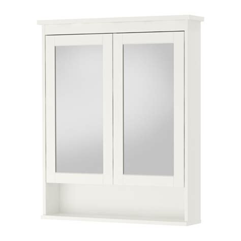 hemnes mirror cabinet with 2 doors white 32 5 8x6 1
