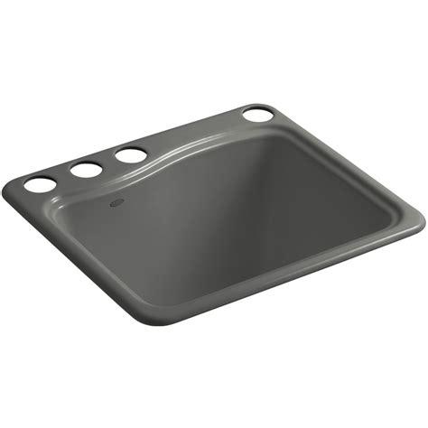 lowes cast iron sink shop kohler thunder grey cast iron laundry sink at lowes com