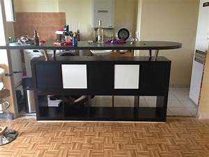 Table Bar Avec Rangement : table de bar avec kallax ~ Teatrodelosmanantiales.com Idées de Décoration