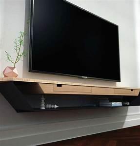 Meuble Sous Tv Suspendu : meuble tv design a suspendre ~ Teatrodelosmanantiales.com Idées de Décoration