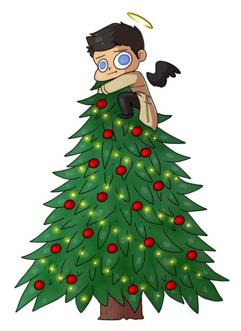 castiel christmas tree topper tree topper by jennilah on deviantart